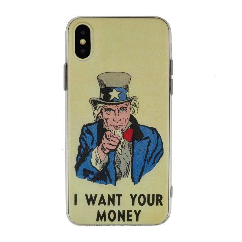Silikónový kryt na iPhone X/XS- money