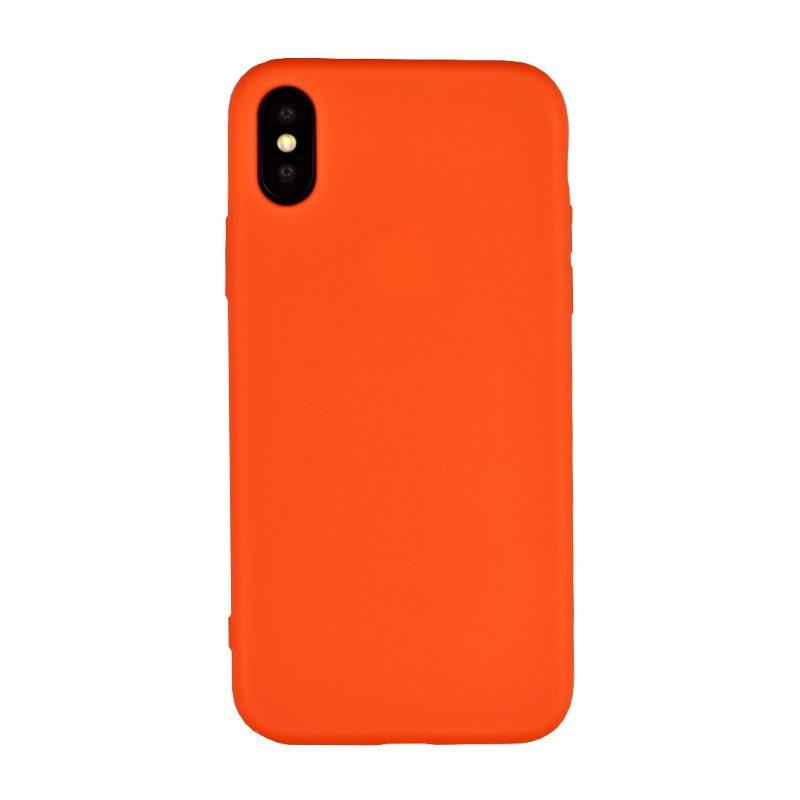 Silikónový kryt na iPhone X/XS oranžový