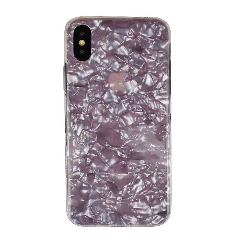 Silikónový kryt na iPhone X/XS - pink geometric