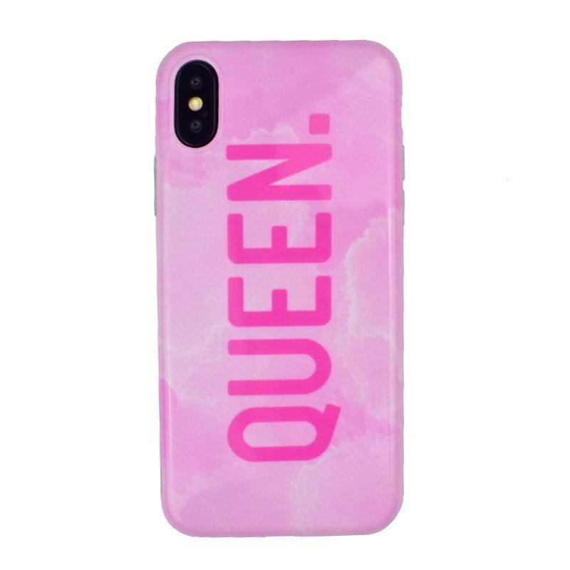 Silikónový kryt na iPhone X/XS - pink queen