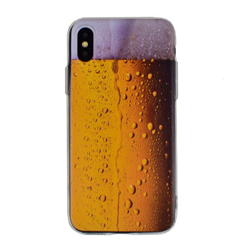 Silikónový kryt na iPhone X/XS- pivo