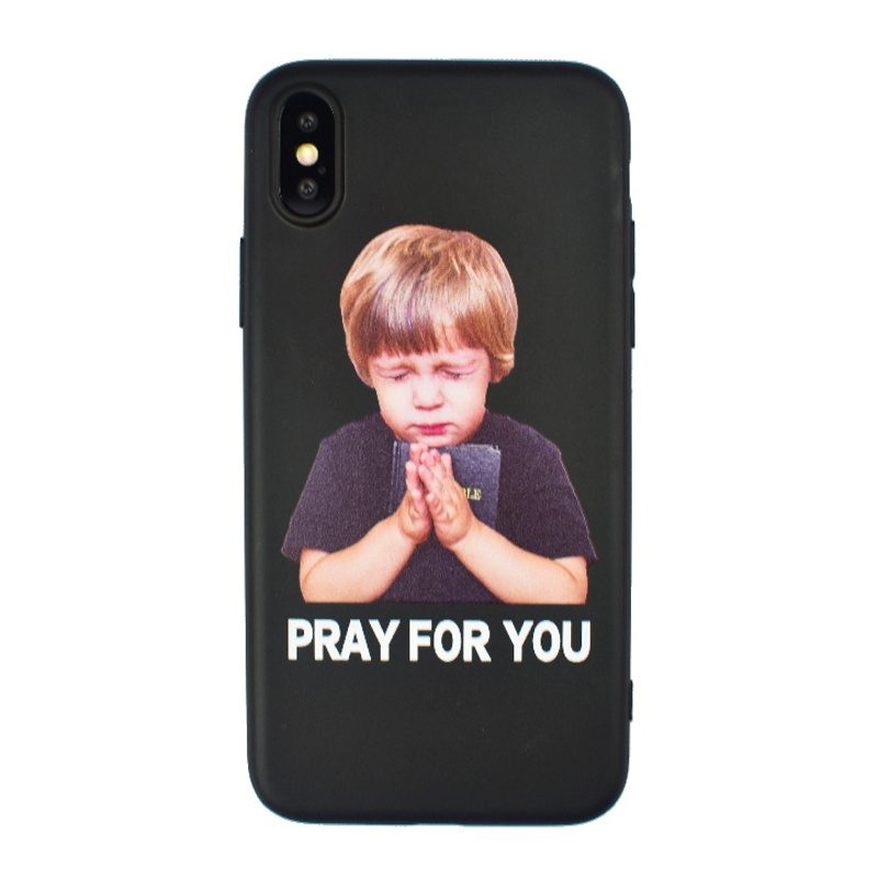 Silikónový kryt na iPhone X/XS- pray for you