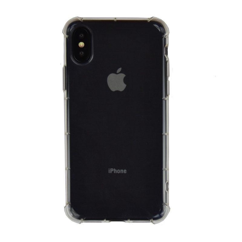 Silikónový kryt na iPhone X/XS priehľadný s vystuženými hranami