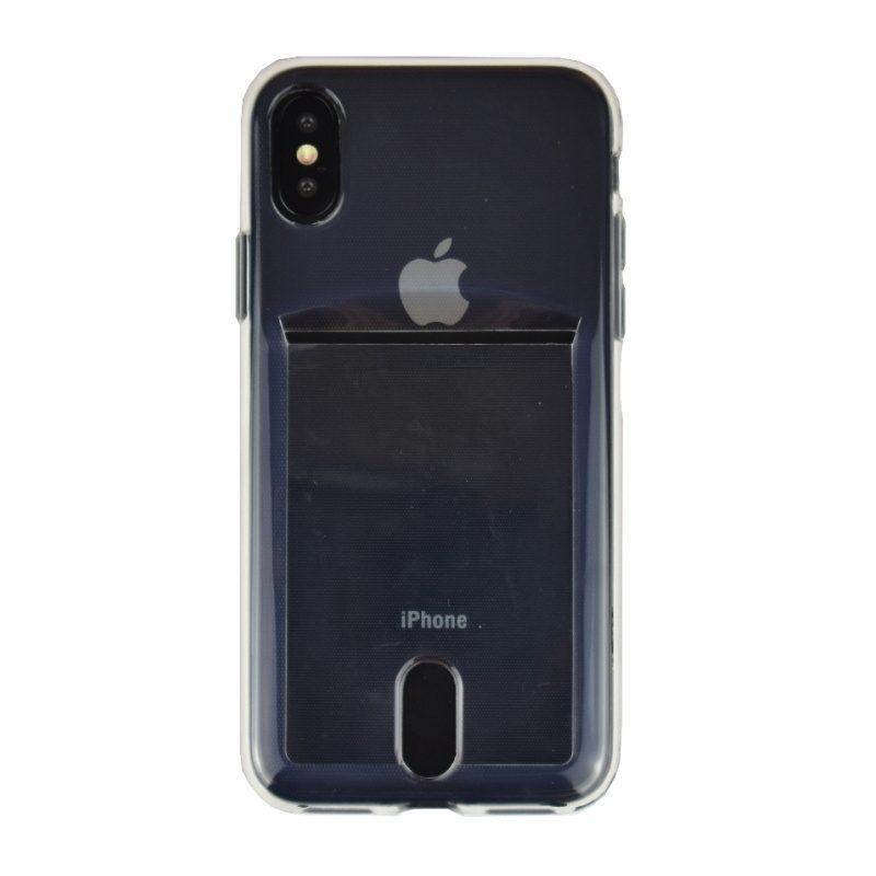 Silikónový kryt na iPhone X/XS s priehradkou na kreditnú kartu