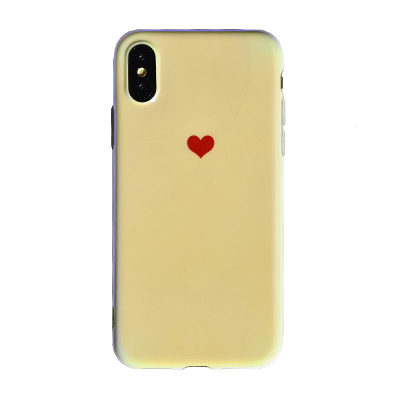 Silikónový kryt na iPhone X/XS - small red heart