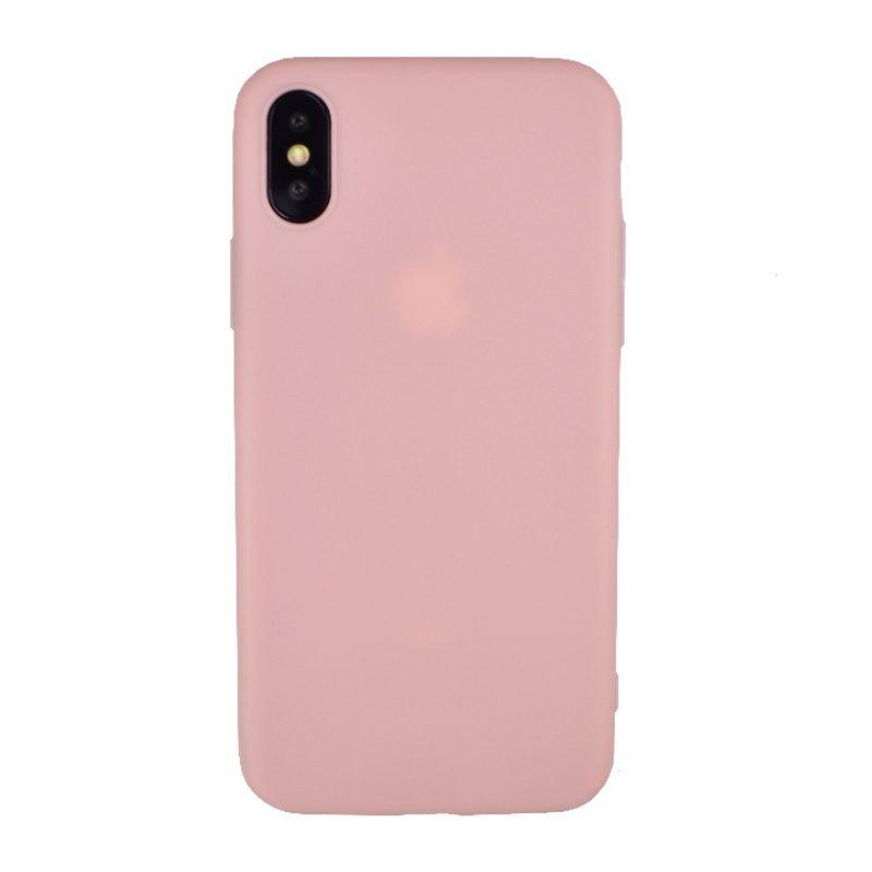 Silikónový kryt na iPhone X/XS tenký - ružový