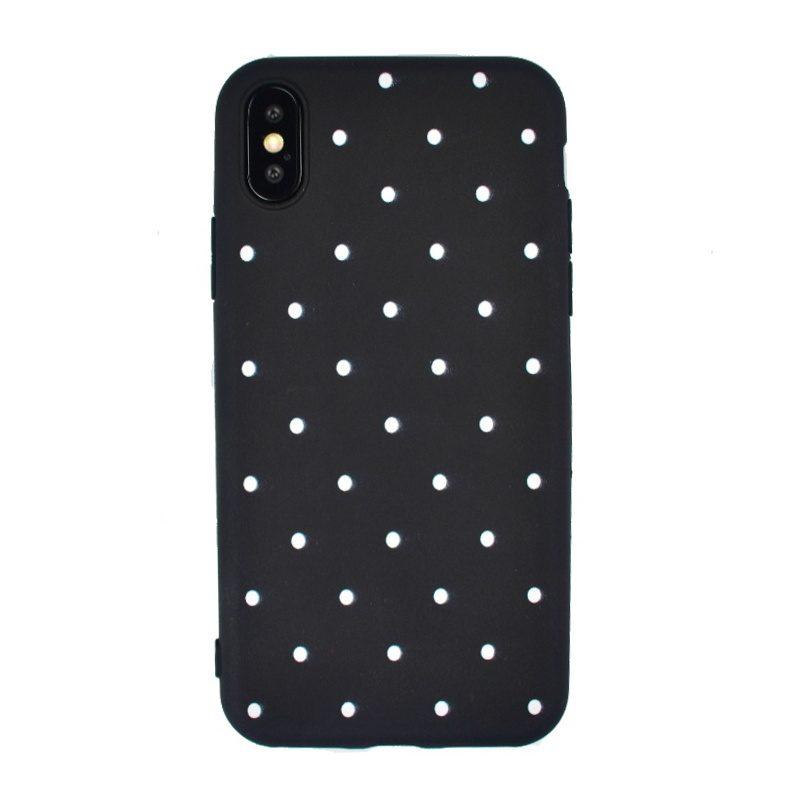 Silikónový kryt na iPhone X/XS- white dots