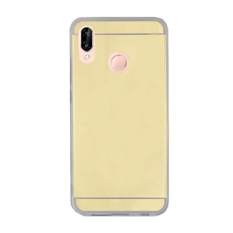 Silikónový kryt na Huawei P20 Lite zrkadlový Gold