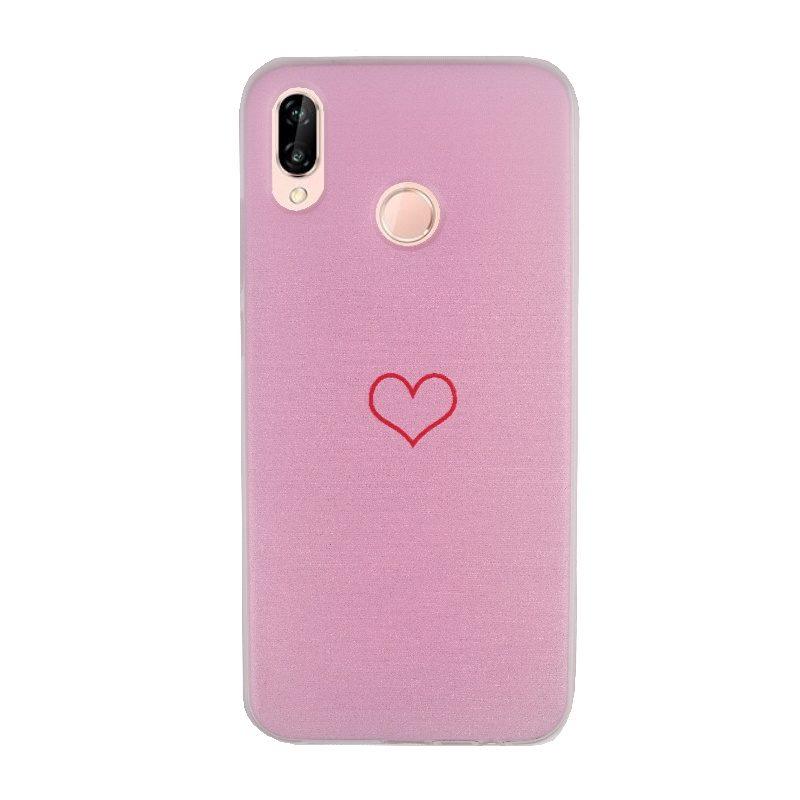Silikónový kryt na Huawei P20 Lite Pink Heart