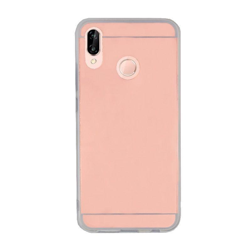 Silikónový kryt na Huawei P20 Lite zrkadlový Rose Gold