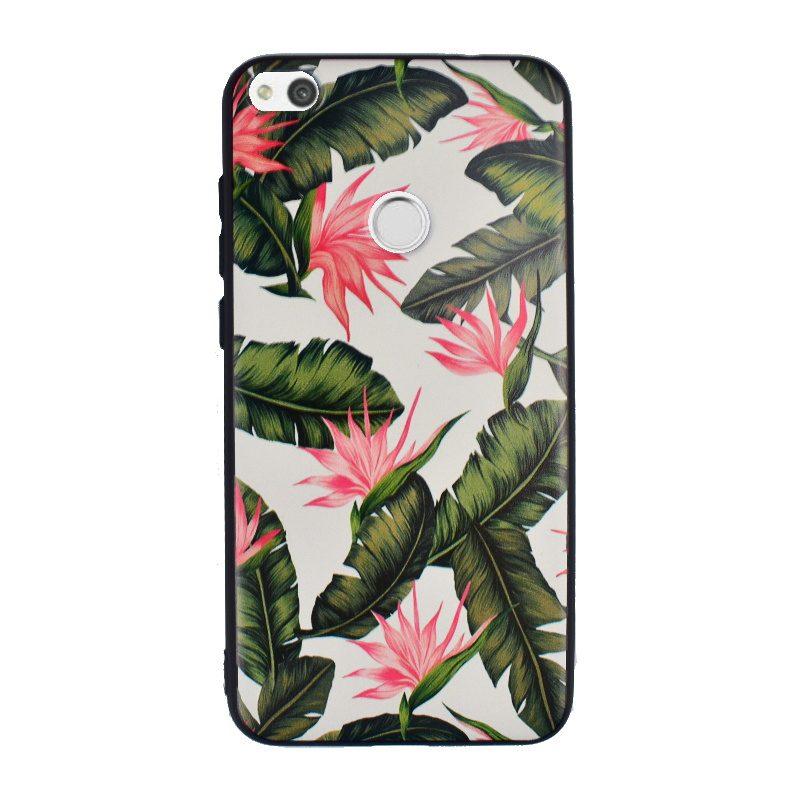 Silikónový kryt na Huawei P9 Lite/P8 Lite 2017 Green Flowers