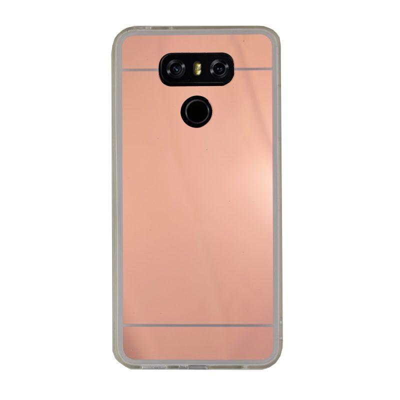 LG G6 silikónový kryt zrkadlový Rose Gold 1