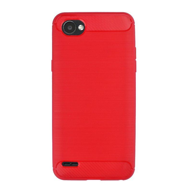 Silikónový kryt na LG Q6 karbónový Red