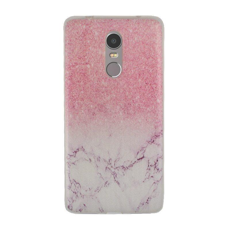 Silikónový kryt na Lenovo K6 Note Pink Marble