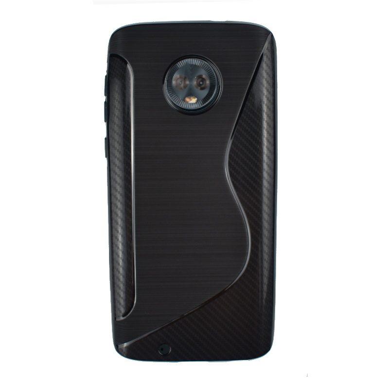 Silikónový kryt na Lenovo Moto G6 Black Carbon