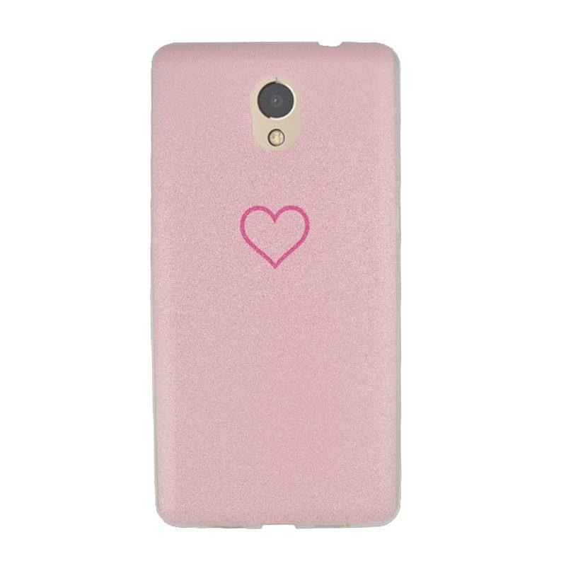 Silikónový kryt na Lenovo P2 Pink Heart