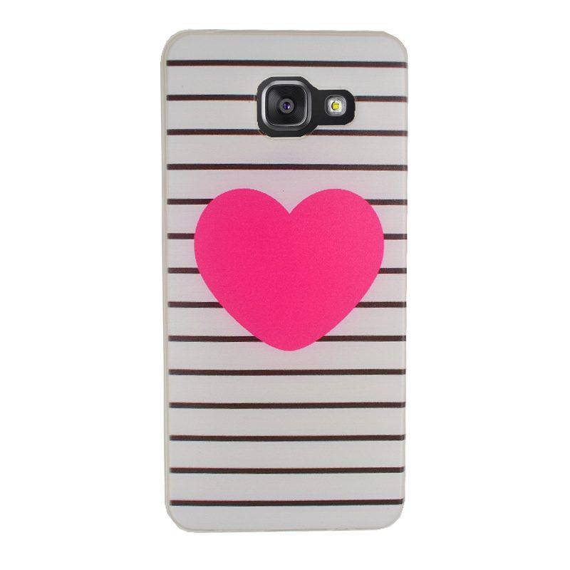 Silikónový kryt na Samsung Galaxy A3 2016 White Heart