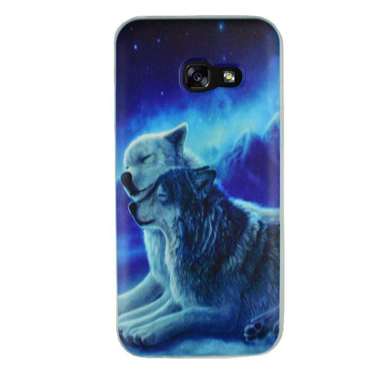 Silikónový kryt na Samsung Galaxy A3 2017 Wolf