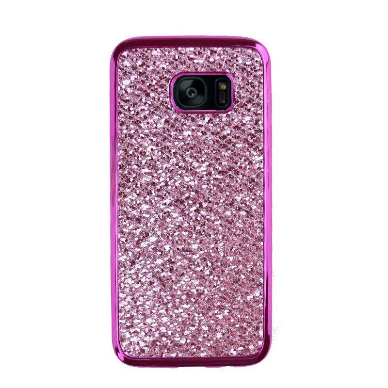 Samsung Galaxy S7 Edge silikónový kryt Purple Sparkling 1