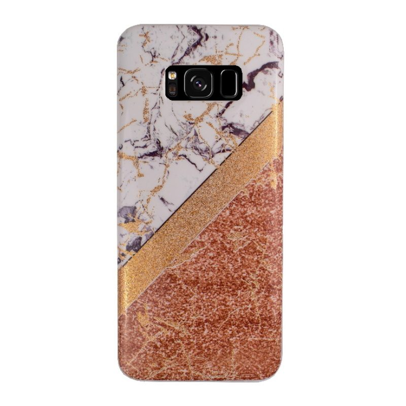 Samsung Galaxy S8 silikónový kryt - gold marble 1