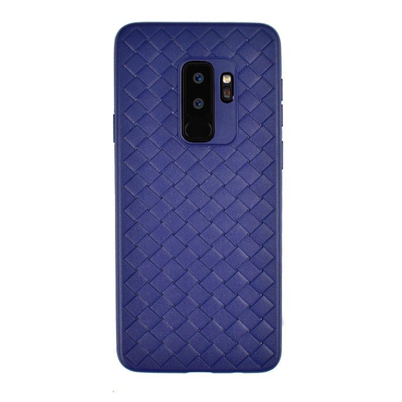 Silikónový kryt na Samsung Galaxy S9+ imitácia kože Blue