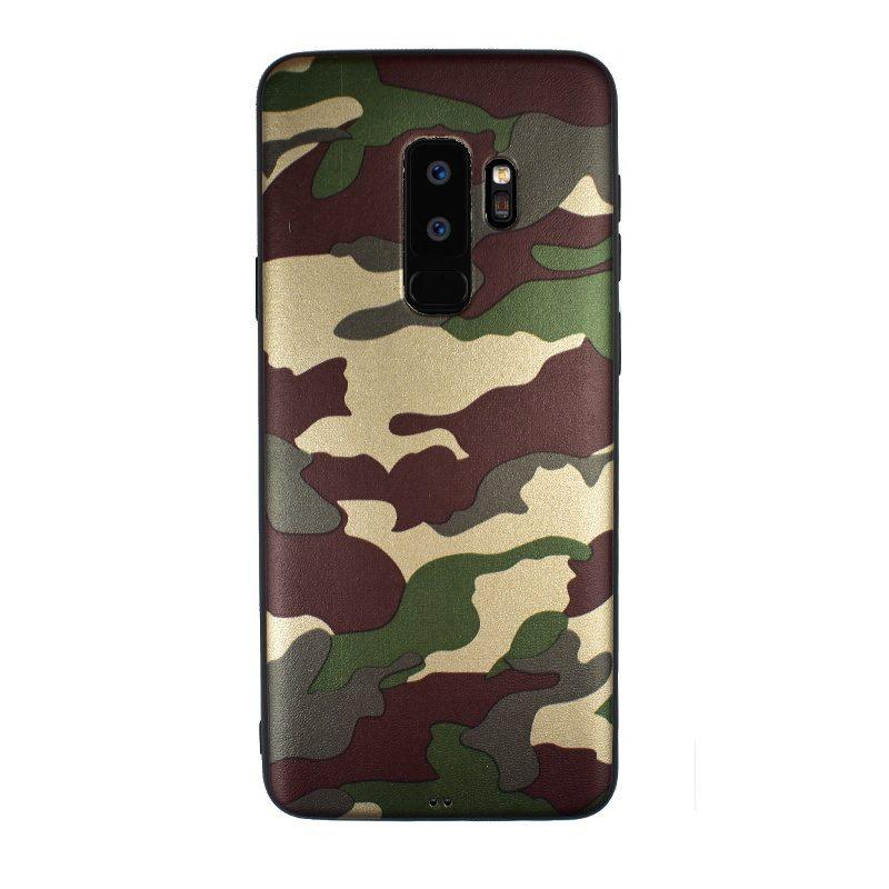 Silikónový kryt na Samsung Galaxy S9+ Brown Camouflage