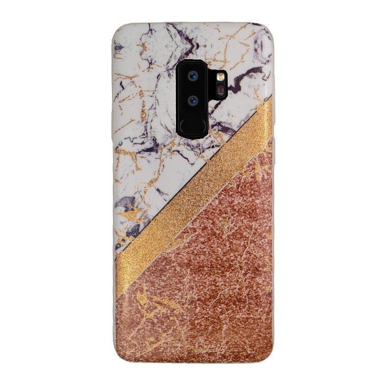 Silikónový kryt na Samsung Galaxy S9+ Gold Marble