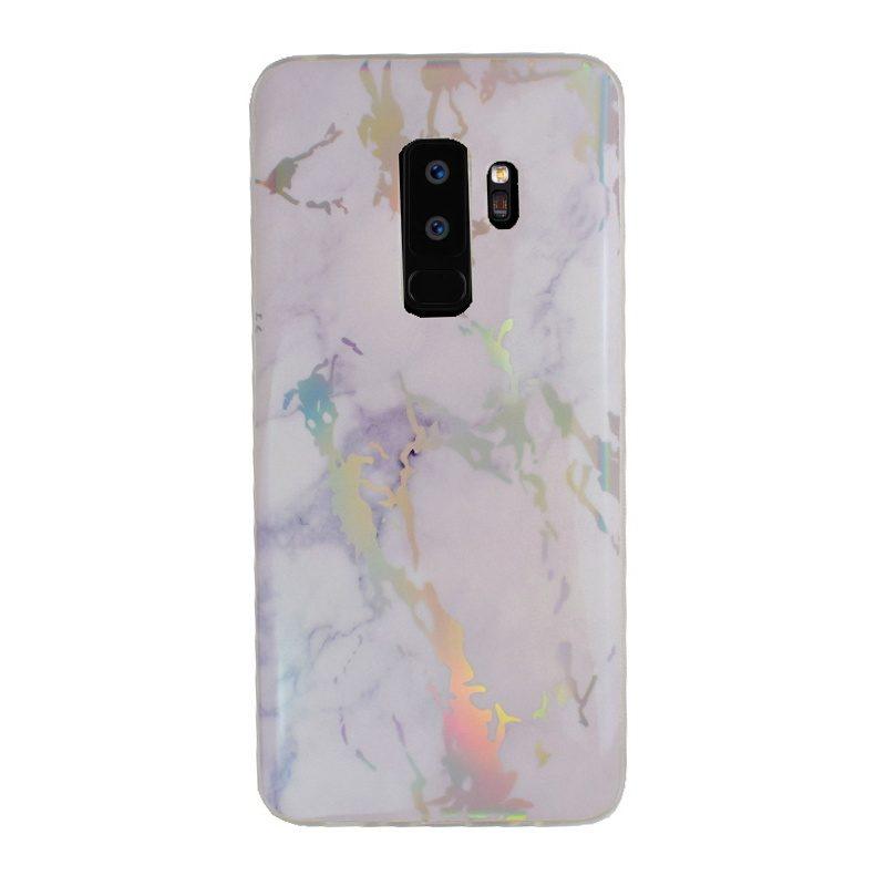 Silikónový kryt na Samsung Galaxy S9+ Silver Marble