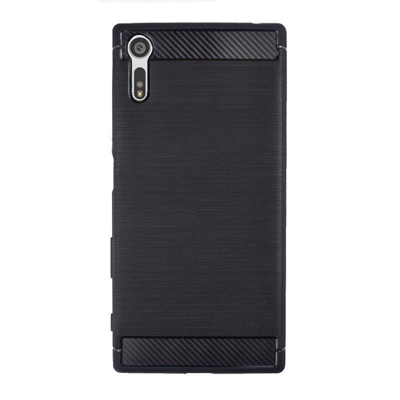 Silikónový kryt na Sony Xperia XZ Carbon Black