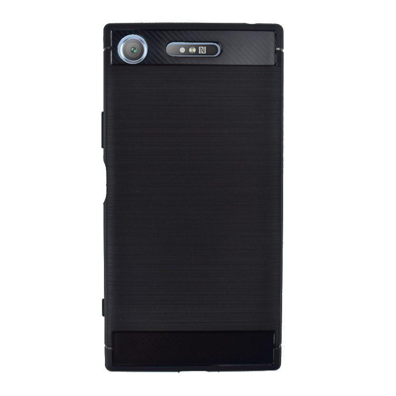 Silikónový kryt na Sony Xperia XZ1 Black Carbon