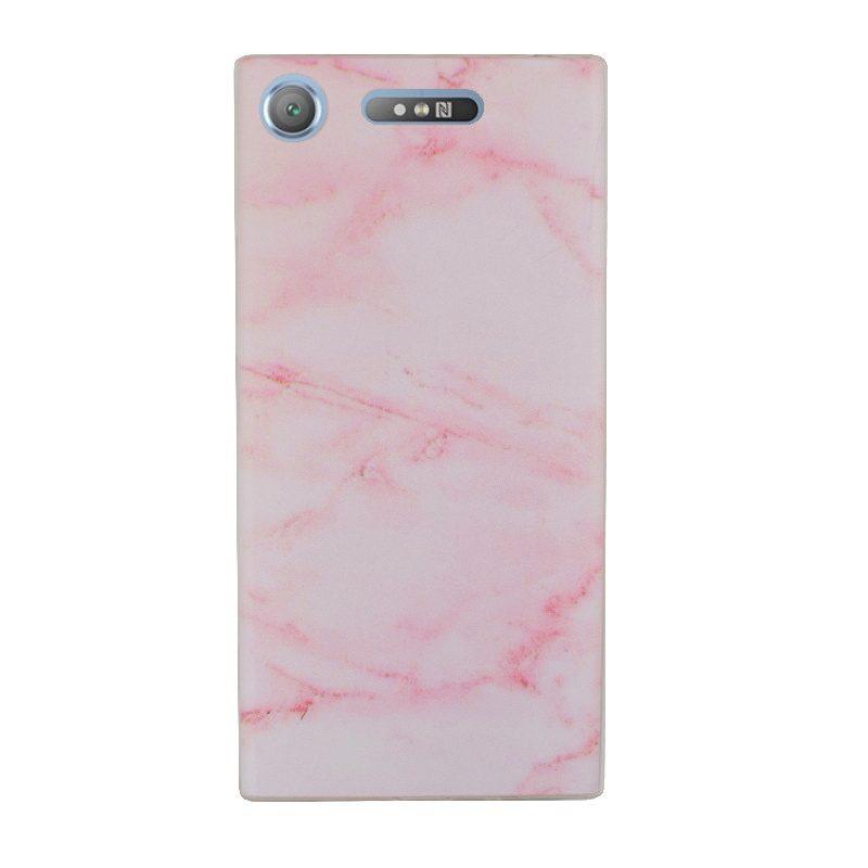 Silikónový kryt na Sony Xperia XZ1 Pink Marble