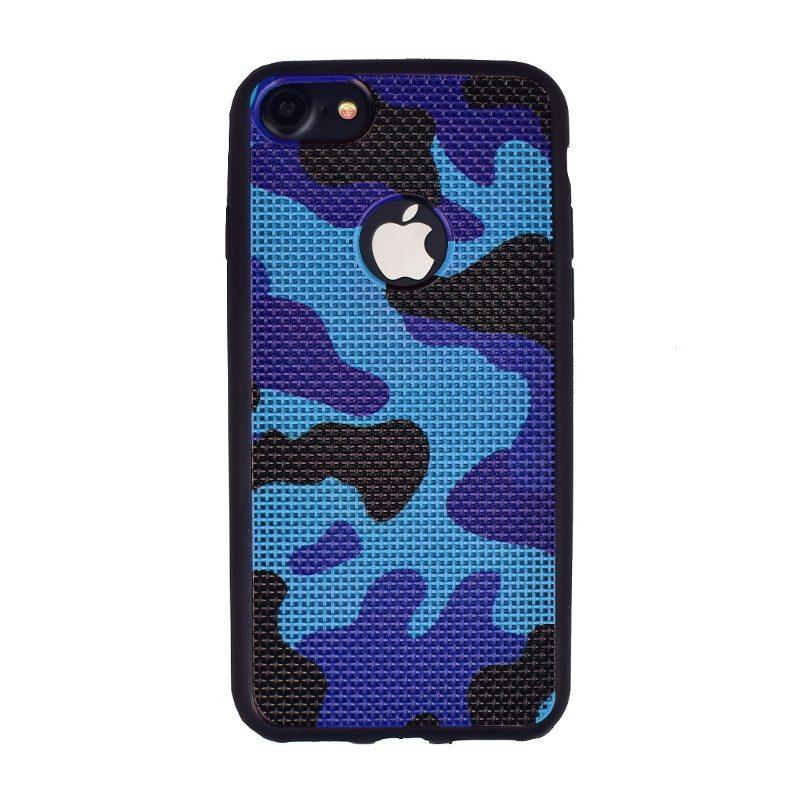 Silikónový kryt pre Apple iPhone 7/8 Blue - maskáčový