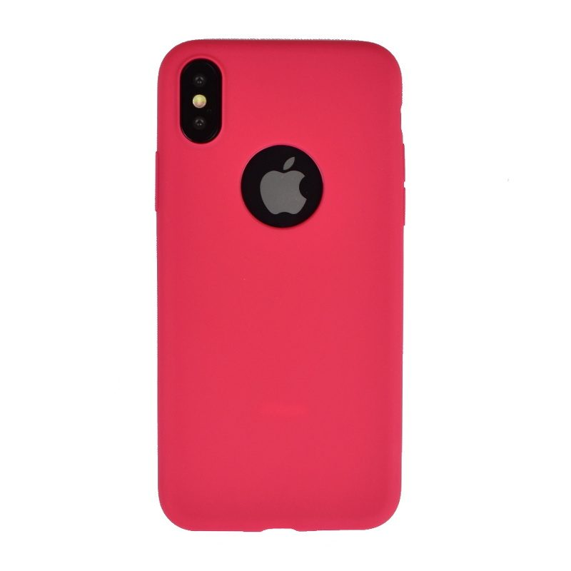 Silikónový kryt pre Apple iPhone X/XS - červený s výrezom