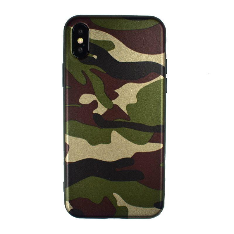 Silikónový kryt pre Apple iPhone X/XS - maskáčový zelený
