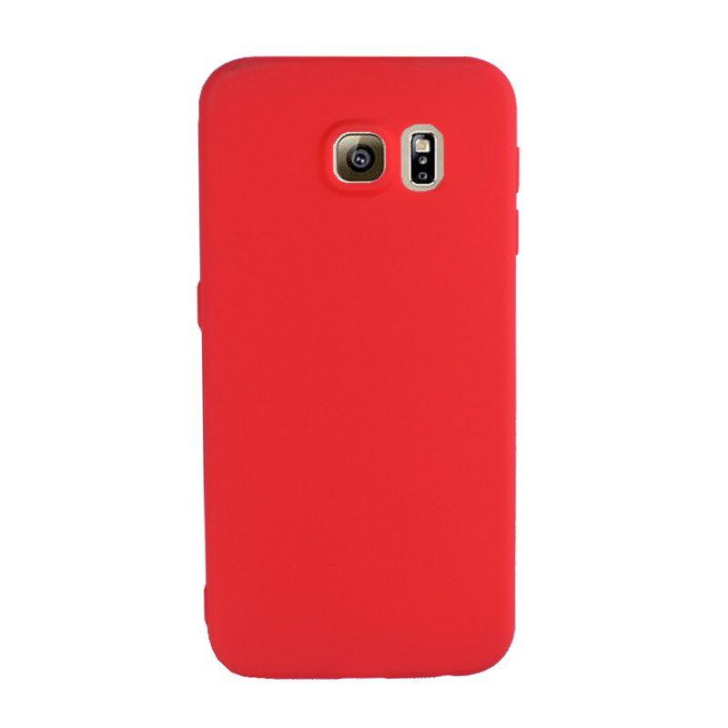 Silikónový kryt pre Samsung Galaxy S6 - červený