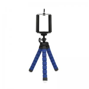 Statív/tripod s držiakom na mobilný telefón - modrý