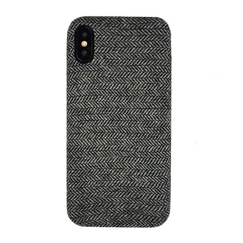 Plastový kryt na iPhone X/XS tenký - látkový