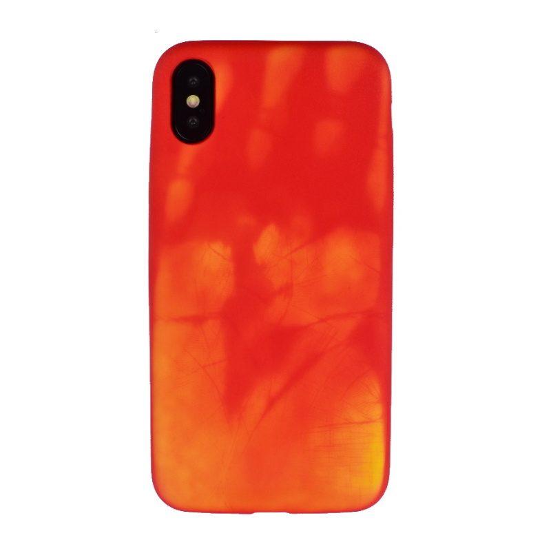 Termo kryt pre Apple iPhone X/XS - červený