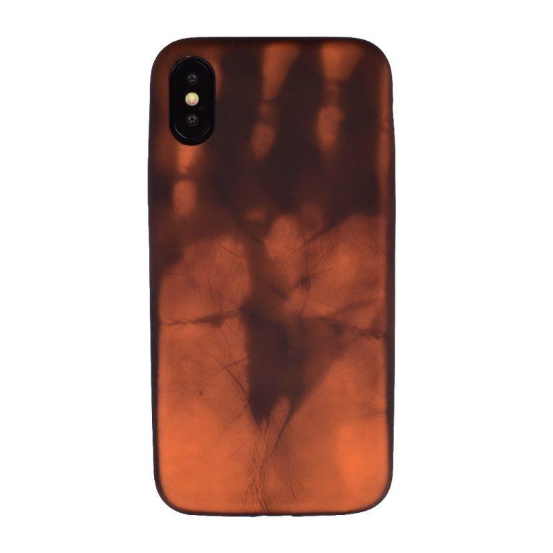 Kryt na iPhone X/XS termo- hnedý