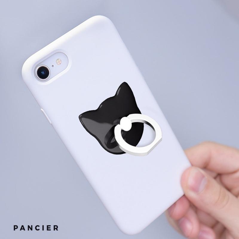 Univerzálny držiak na mobilný telefón nalepovací- čierna mačka