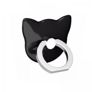 Univerzálny nalepovací držiak na mobilný telefón - čierna mačka