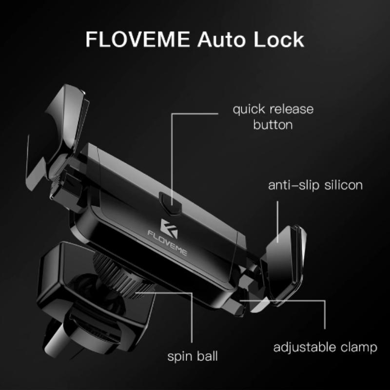 Držiak na ventilačnú mriežku auta Floveme - čierny