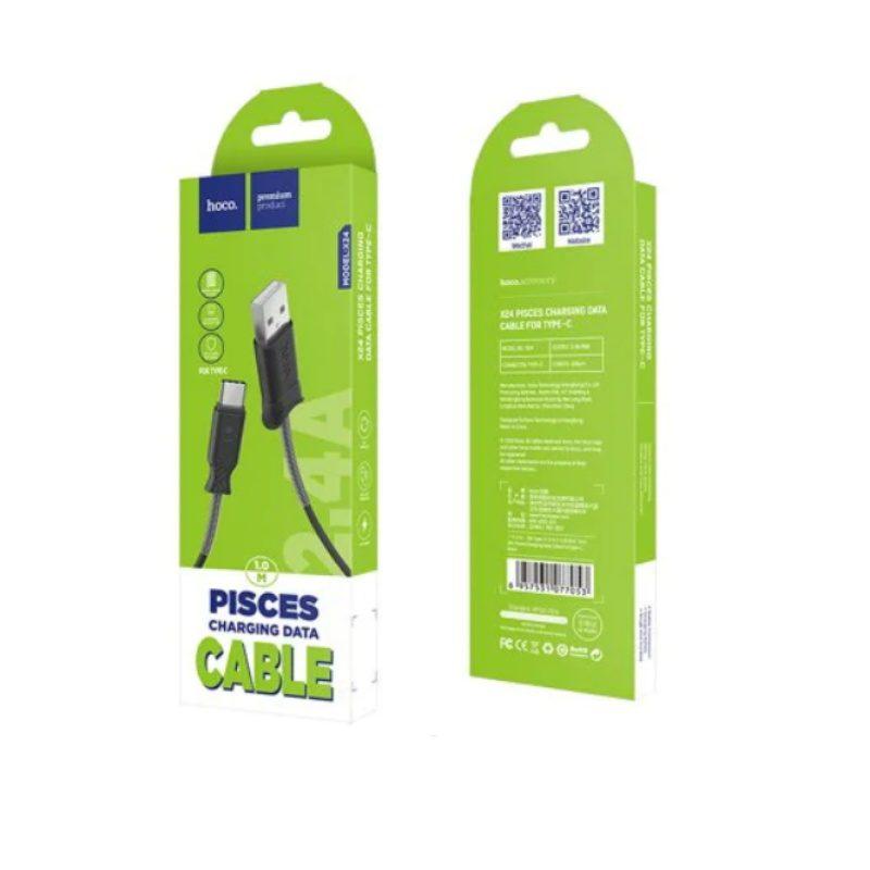 Kábel Type-C 2.4A Charging Data 100cm Hoco X24 - čierny