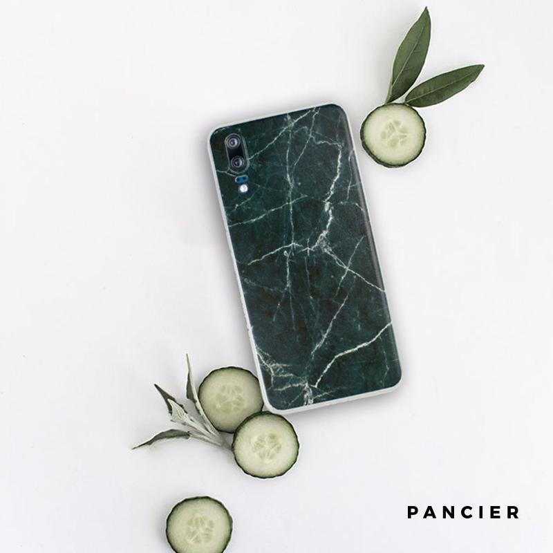 Silikónový kryt na Huawei P20 Green Marble