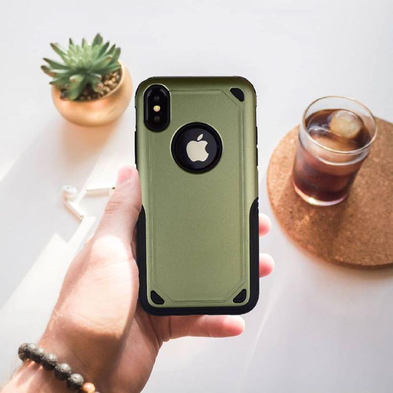 Kryt na iPhone X/XS super odolný Armor - zelený