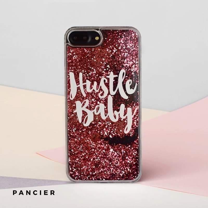 Plastový kryt na iPhone 7/8 Plus presýpací Hustle Baby
