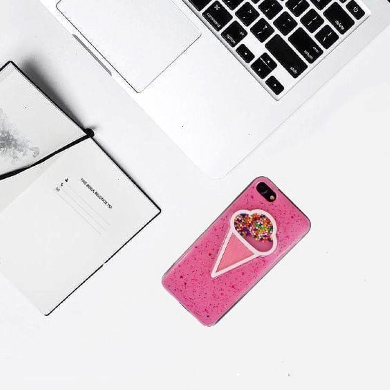 Silikónový kryt na iPhone 7/8/SE 2 presýpací Ice Cream