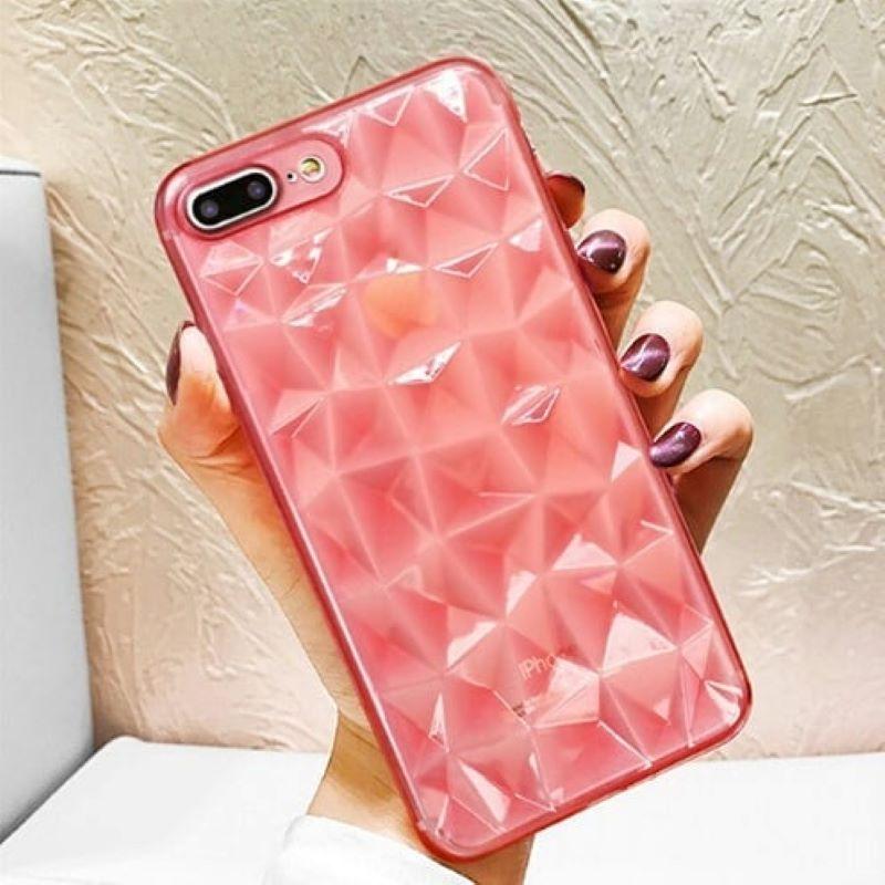 Silikónový 3D kryt na iPhone 7/8 Plus Geometric