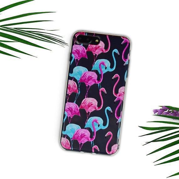 Silikónový kryt na iPhone 7/8 Plus Flamingo