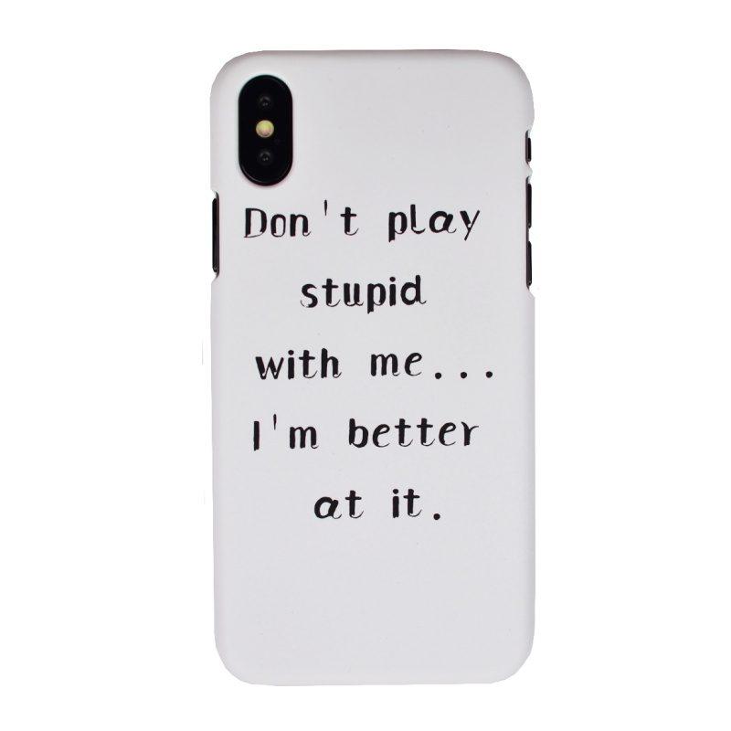 Plastový kryt pre Apple iPhone X/XS Play Stupid